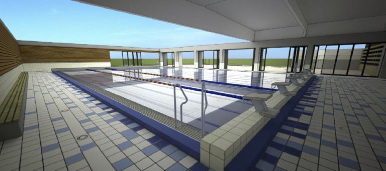 vue 3D bassin extérieur