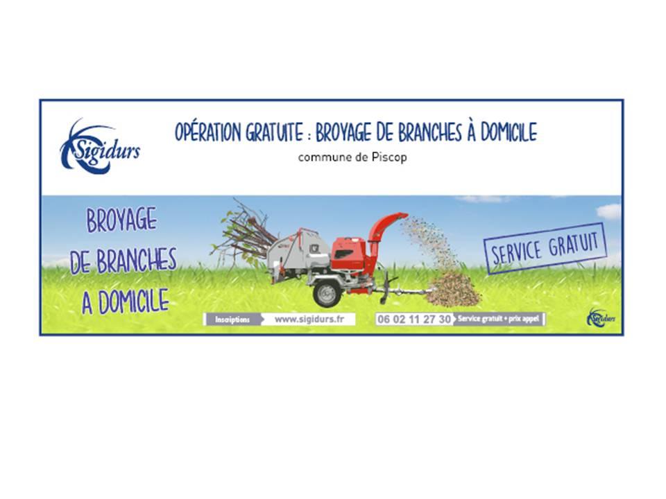 Broyage gratuit de branches à domicile