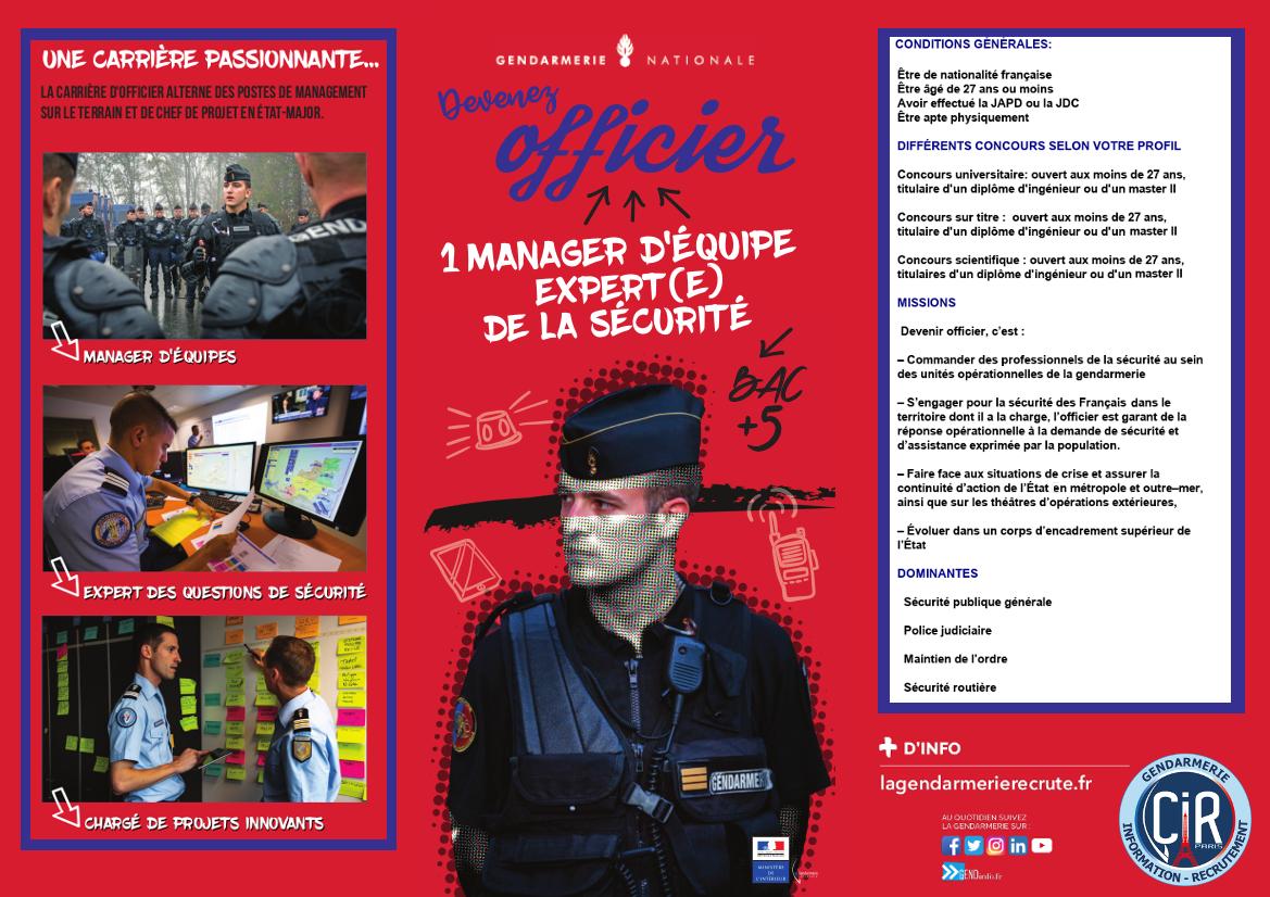 Présentation des concours d'officier de gendarmerie